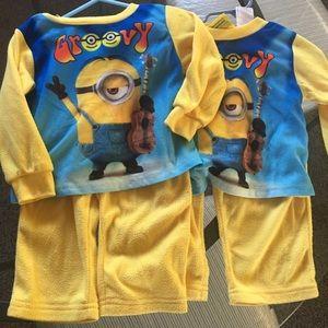 minions Pajamas - Twin boys Minion pj set size 2T